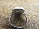 Османский Серебряный перстень печатка с надписью photo 5