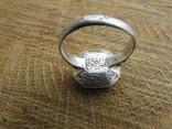 Османский Серебряный перстень печатка с надписью photo 6