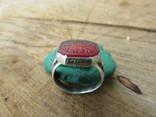 Османский Серебряный перстень печатка с надписью photo 7