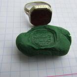 Османский Серебряный перстень печатка с надписью photo 8