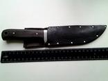 Охотничий нож, бонусом хорошие ножны в коже photo 9