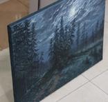 """""""Ніч"""", льон, олія, 50х65 см photo 5"""