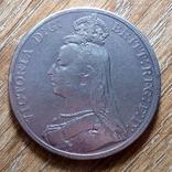 Великобритания крона 1889 г., фото №3
