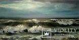 Море волнуется, масло, холст 60*30 см на подрамнике.2016г. автор Янишевская Ю.В.
