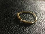 Золоте вісочне кільце ЧК photo 1