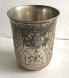 Киддушный стакан. Иудаика. Серебро, 84. 1886 год. photo 4