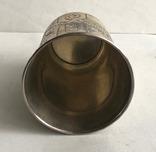 Киддушный стакан. Иудаика. Серебро, 84. 1886 год. photo 11