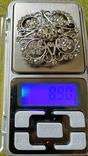 Брошь серебро 875пр. звезда +камни, фото №2
