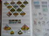 Около 200 марок и 56 сцепок,м.л., темы Фауна,флора в альбоме photo 5