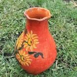 Глиняная ваза №1, ручная роспись, фото №2