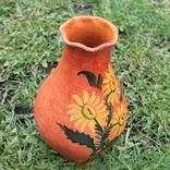 Глиняная ваза №1, ручная роспись, фото №3