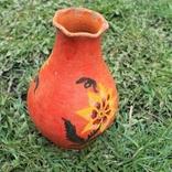 Глиняная ваза №1, ручная роспись, фото №5