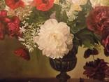 "Натюрморт ""Букет в бронзовой вазе"" 70х75 см, х/м, Костенко А.С. photo 2"