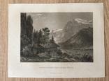 Старинная гравюра. 1862г. Энгельберг. Швейцария. photo 1
