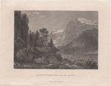 Старинная гравюра. 1862г. Энгельберг. Швейцария. photo 2