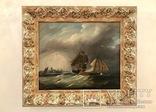 Картина 19 век «В Голландском порту». Сертификат