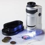 Микроскоп, увеличение от 20х до 40х, с подсветкой. Leuchtturm. 305995