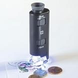 Микроскоп, увеличение от 60х до 100х, с подсветкой. Leuchtturm. 313090