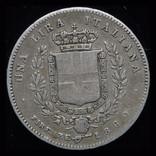 Эмилия Романа 1 лира 1860 Firenza серебро, фото №3