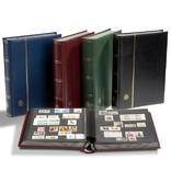 Альбом для марок Premium из кожи с 32 листами. Синий. Leuchtturm. 322522