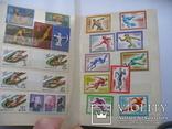 """200 марок и 4 блоков (MNH) """"Спорт"""" мира в альбоме, фото №7"""