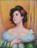 Портрет  подписной, послевоенная Европа, фото №3