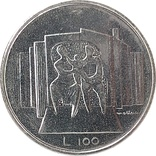 Сан-Марино 100 лир 1976, фото №3
