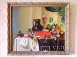 Натюрморт с омаром, 50х60 см, 2003 г., Кульчицкая Евгения. Копия., фото №2