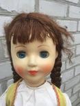 Кукла паричковая СССР 59 см, фото №3