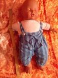Спящий младенец от Lissy Batz голова руки, ноги Целлулоид, тело мягкое, фото №6