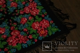 Шерстяной старинный платок №110, фото №4