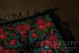 Шерстяной старинный платок №110, фото №5