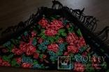 Шерстяной старинный платок №110, фото №8