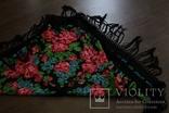 Шерстяной старинный платок №110, фото №9