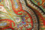 Шерстяной старинный платок№219, фото №11