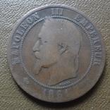 10 сантим 1861 Франция    (Ю.2.6)~, фото №2