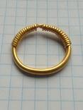 Золотое височное витое кольцо Черняховской Культуры