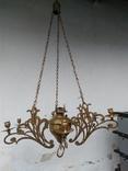Люстра бронзовая в стиле модерн, фото №2