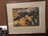 """Зеновій Флінта, картина """"Гірський пейзаж"""", 1966р photo 6"""