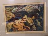 """Зеновій Флінта, картина """"Гірський пейзаж"""", 1966р photo 7"""