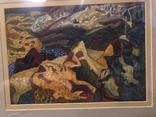 """Зеновій Флінта, картина """"Гірський пейзаж"""", 1966р photo 8"""