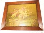 Старинная картина репродукция - шикарная рамка деревянная - -- германия --- 92 х 74,5 см photo 1