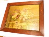 Старинная картина репродукция - шикарная рамка деревянная - -- германия --- 92 х 74,5 см photo 2