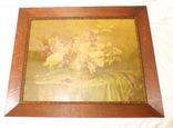Старинная картина репродукция - шикарная рамка деревянная - -- германия --- 92 х 74,5 см photo 3