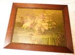 Старинная картина репродукция - шикарная рамка деревянная - -- германия --- 92 х 74,5 см photo 4