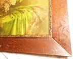 Старинная картина репродукция - шикарная рамка деревянная - -- германия --- 92 х 74,5 см photo 5
