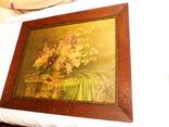 Старинная картина репродукция - шикарная рамка деревянная - -- германия --- 92 х 74,5 см photo 6