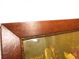 Старинная картина репродукция - шикарная рамка деревянная - -- германия --- 92 х 74,5 см photo 7