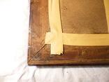 Старинная картина репродукция - шикарная рамка деревянная - -- германия --- 92 х 74,5 см photo 11