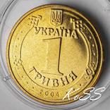 1 гривня 2004 року Владимир мешковая в обороте не была / гривна photo 1